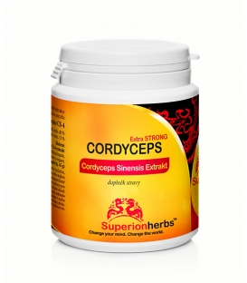 Cordyceps - 90 kps x 500 mg, Extrakt 40% polysacharidov, 15% manitolu