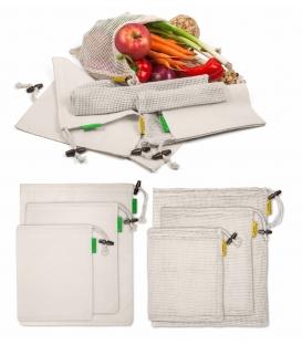 7 ks SET Bio bavlnené vrecká na potraviny