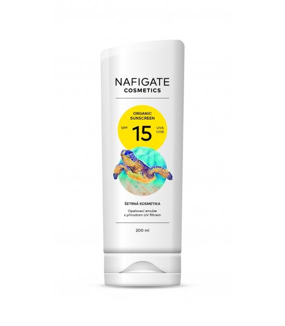 Organic Sunscreen SPF 15 (200ml opalovací krém s prírodným polymerom P3HB)