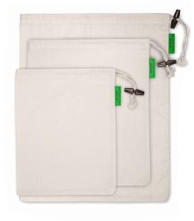 3 ks Bio bavlnené vrecká na potraviny - Organická látka