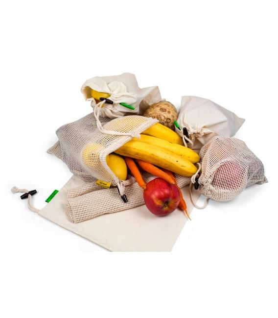Sieťové vrecko z biobavlny na ovocie a zeleninu