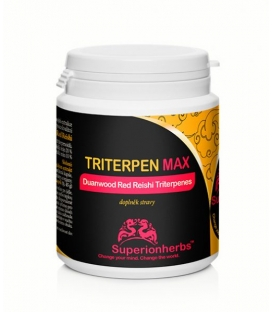 TRITERPEN MAX – extrakt z Duanwood Red Reishi – 20 % triterpenoidov, Superionherbs, 90 kps x 500 mg