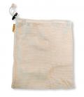 Bavlnené vrecko M - 25 x 30 cm - Priedušná sieťovina