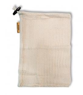 Bavlnené vrecko S - 20 x 25 cm - Priedušná sieťovina