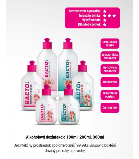 Dezinfekčný gél na ruky Bacto Stop 100 ml