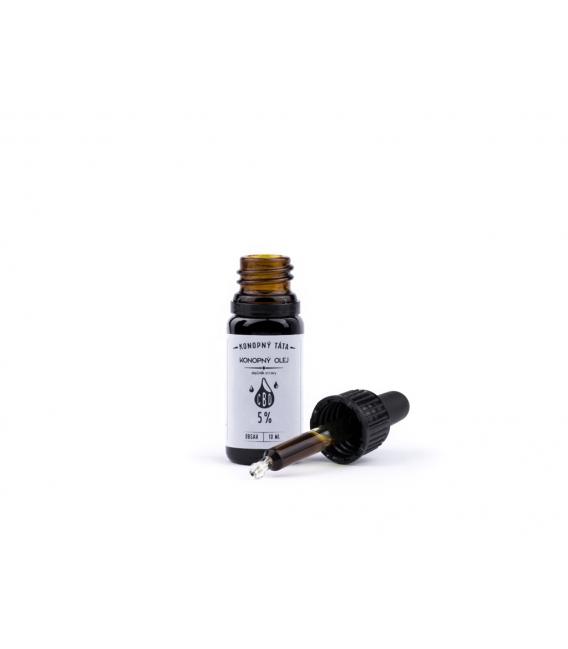 CBD olej 5 % Fullspektrum, Konopný táta, 10 ml