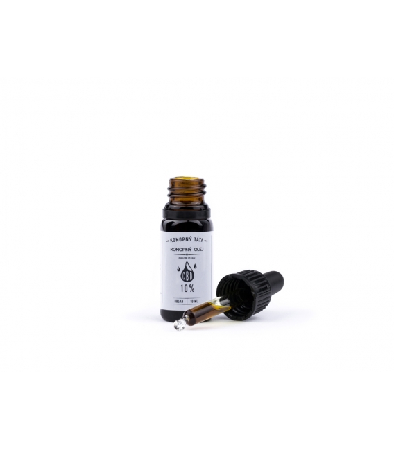 CBD olej 10 % Fullspektrum, Konopný táta, 10 ml