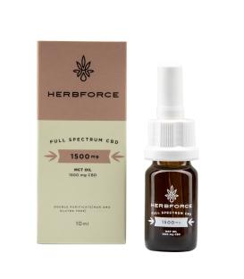 HERBFORCE CBD OLEJ 15 % Full Spectrum, 10 ml